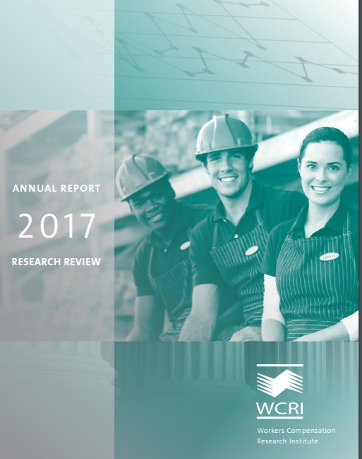 2017 WCRI Annual Report + Research Review image